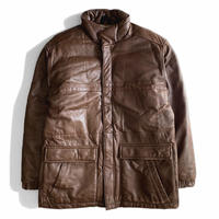 Eddie Bauer Leather Down JKT BROWN