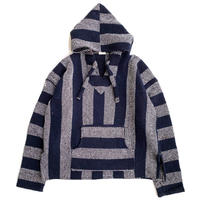 Drug Rugs MEXICAN PARKA Navy Stripe
