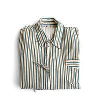 Bulgarian Army Pajama Shirt Yel/Grn Stripes