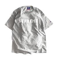 Supreme x CHAMPION Harvard T Shirt Grey/White