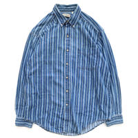 90's L.L.Bean Striped Denim Shirt
