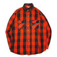 70's FIVE BROTHER Flannel Shirt BL Check