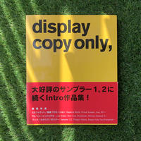 display copy only, a book of Intro work
