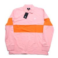 CHEVRON & STAR Flower POLO Shirt Pink