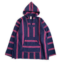 SUN SPECS Drug Rugs MEXICAN PARKA Pink x Navy Stripe