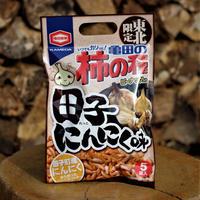 【おみやげ】東北限定 亀田柿の種 田子にんにく味(5袋入り)