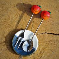 【6月19日21時再販第二弾】りんごちゃんのフォーク・スプーン