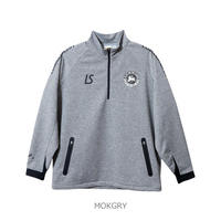 LUZ e SOMBRA P100 ACTIVE SWEAT CAM HALFZIP TOP【MOKGRY】