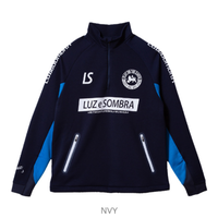 LUZ e SOMBRA P100 STRETCH SWEAT HALF ZIP TOP【NVY】