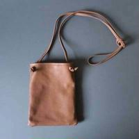 flat shoulder bag (beige)