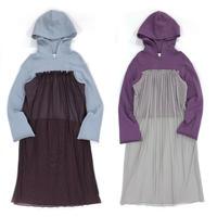 【ya-210009】_tulle layered hoodie