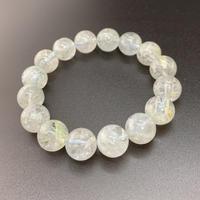 白雲母入り水晶 13㎜のブレスレット Ⅱ