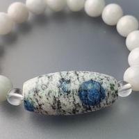 天珠型K2と翡翠のブレスレット
