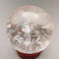 天然水晶(アイリスクォーツ) 丸玉 36.6㎜