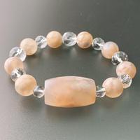 天珠型桜瑪瑙(サクラメノウ)のあるブレスレット Ⅰ