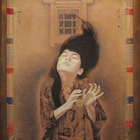 智内兄助「冬麗か・烈 蔵壁」50号