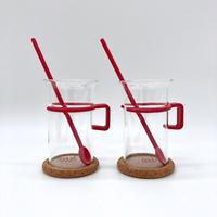 Bodum(ボダム)/グラス2個セット(コルクコースター&マドラー付)