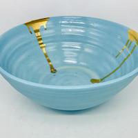 Blue big ball bowl   C-5