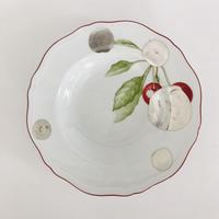 ジノリのスープ皿に銀彩A