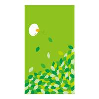 【Fresh Green Leaves】スマホ用壁紙(1080×1920)