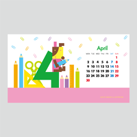 【April 2018】PC用壁紙(1920×1080)