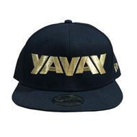YAVAY キャップ (ブラック×ゴールドver.)