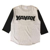 YAVAY ベースボールT(グレー×ブラック)