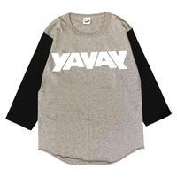 YAVAY ベースボールT(グレー×ホワイト)
