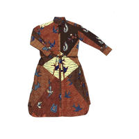 shirt dress (oriental bird )
