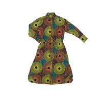 shirt dress (big circle orange✖️yellow)