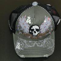 帽子 カーキー ドクロ