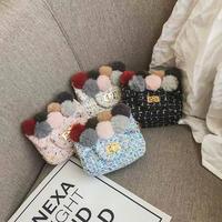 【8色展開】ツイードミニbag