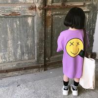 【4色展開】スマイルTシャツワンピ