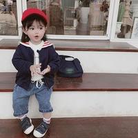 【3色展開】セーラー襟ブルゾン