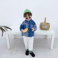 【2色展開】バイカラーデニムシャツ