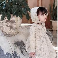 【3色展開】花柄ワンピ&ボンネットset