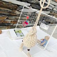 巾着型草編みショルダーbag