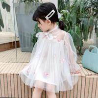 フラミンゴ刺繍ドレス