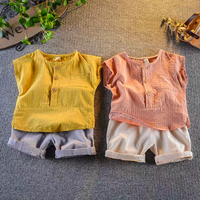 【2色展開】ナチュラルシャツ×パンツset