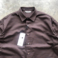 amne CHECK COVERED SHIRTS 2COLORS