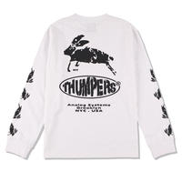 THUMPERS NYC  ANALOG SYSTEM L/S TEE  [WHITE]
