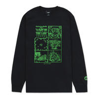 """HUF WORLDWIDE """"DAY IN THE LIFE L/S TEE"""" 2COLORS"""