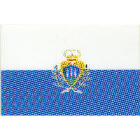 スコッチカル国旗シール サンマリノ Lサイズ 100mm×150mm