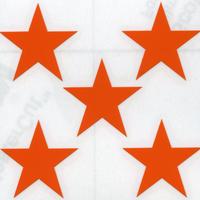 <スコッチカル>星型シール 不透過タイプ 8825-14ST33mm ブライトオレンジ 5個入