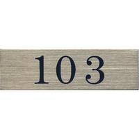 ステンレスサインプレート ST-A003 1㎜厚 粘着テープ付 30㎜×100㎜ 103