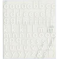 スコッチカルインレタシート 15mmセットパック 書体  フツーラメディウム 小文字 F3307S-27 マットホワイト