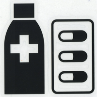スコッチカルサインシール SC500-064 約90㎜ピクトステッカー 薬局