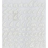 スコッチカルインレタシート 15mmセットパック 書体  ブラッシュスプリクト 小文字 B7200S-047 ホワイト(047裏ホワイト)