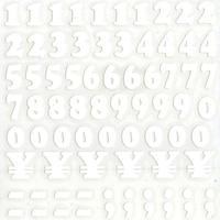 スコッチカルインレタシート 15mmセットパック 書体  クーパー 数字 JC6BN-27 マットホワイト