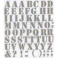 スコッチカルインレタシート 15mmセットパック 書体  ステンシル 大文字 S2700L-120 シルバーメタリック